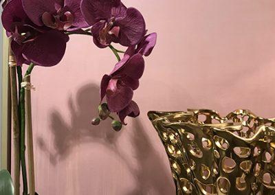 purple-orchid-vase-brass-vase-holes-marble