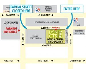 Map to Design Center Philadelphia during construction